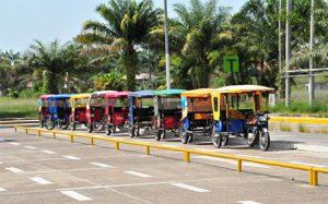 Motocars Iquitos airport, Peru