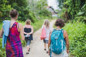 Guests Walking Caya Shobo Ayahuasca Retreat Center