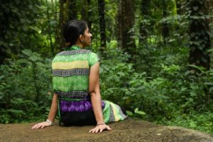 Woman Meditating Integration Forest